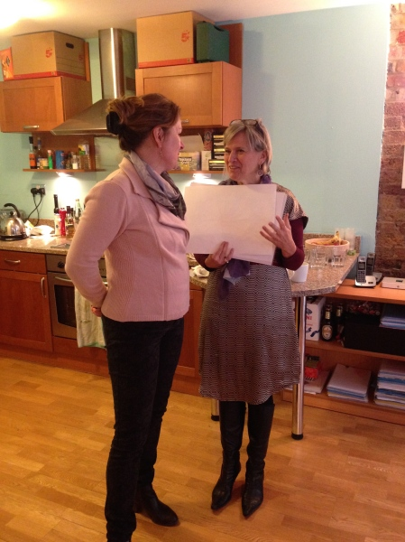Here I am in discussion with Julie (another coach on the summer courses) as we plan the ways to help participants find their passion.